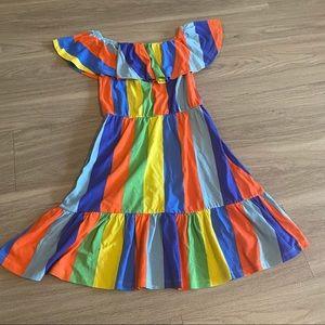 ASOS, 4, vibrant color blocked striped dress